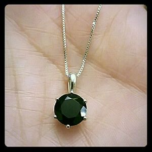 Jewelry - BLACK SPINEL SOLITAIRE NECKLACE